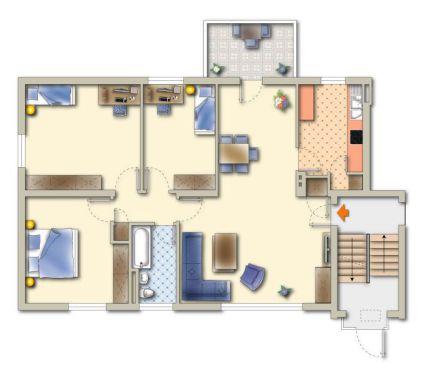 Top 4-Zimmer-WHG mit Balkon