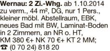 Wohnung in Wernau