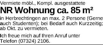 Wohnung in Herbrechtingen  - Anhausen