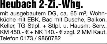 Wohnung in Heubach  - Beuren