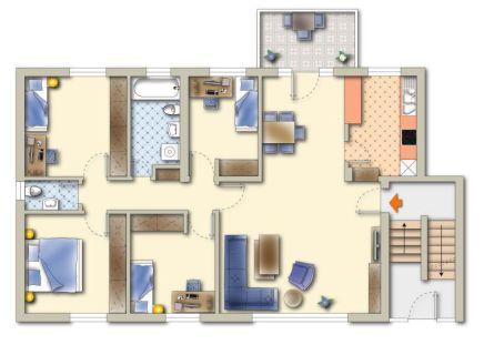 5-Zimmer WHG mit Balkon Ihr Osterwunsch kann in Erfüllung gehen...