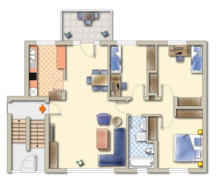 4-Zimmer-WHG im Erdgeschoss - familienfreundlich