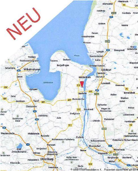 34 34 ha Gr�nland Nordenham Esenshamm - Grundst�ck mieten - Bild 1