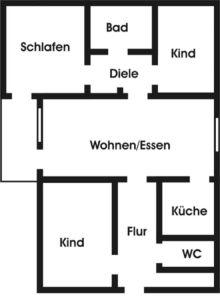 Erdgeschosswohnung in Riesa  - Gröba