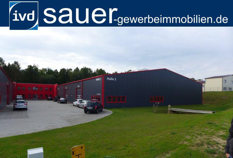 Ebenerdige st�tzenfreie Neubauhalle B�roteil A10 Berliner Ring - Gewerbeimmobilie mieten - Bild 1