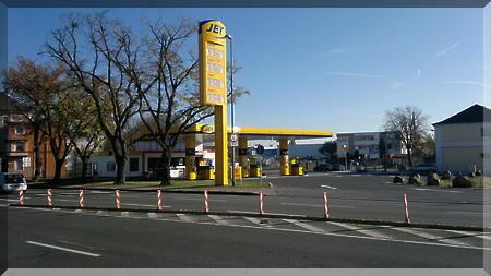Bei JET Tankstelle Hanau 800 qm B43 B45 d v Eigt - Grundst�ck mieten - Bild 1
