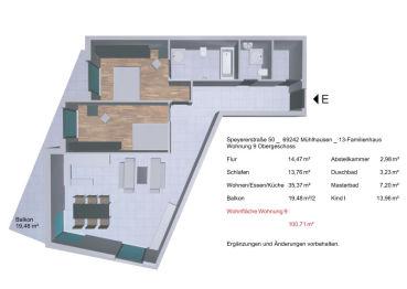 Wohnung in Mühlhausen  - Mühlhausen