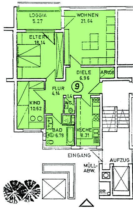 3-Zimmer Eigentumswohnung in Zwingenberg - Annastraße 60