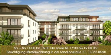 Sandino Hofgärten an der historischen Zuckerwarenfabrik ++ Top Bauqualität zu erschwinglichen Preisen ab 2.850,- Euro/m² Wohnfläche ++ Besichtigen Sie unsere Musterwohnung!