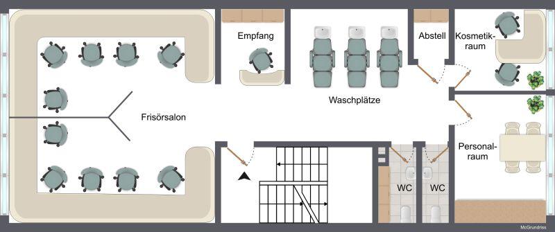 Friseursalon voll ausgestattet Innenstadtlage - Gewerbeimmobilie mieten - Bild 1