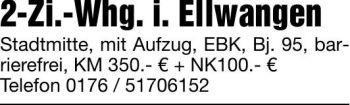 Wohnung in Ellwangen  - Rattstadt