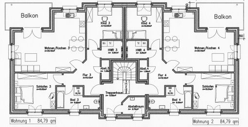 Dachgeschosswohnung in Ostrohe