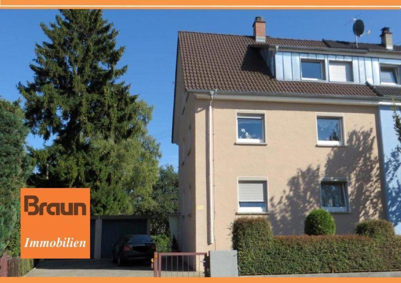 Modernisierte 1 2 Familien Doppelhaush�lfte herrlichem Gartengrundst�ck Doppelgara - Haus kaufen - Bild 1