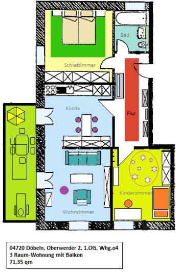 Etagenwohnung in Döbeln  - Döbeln