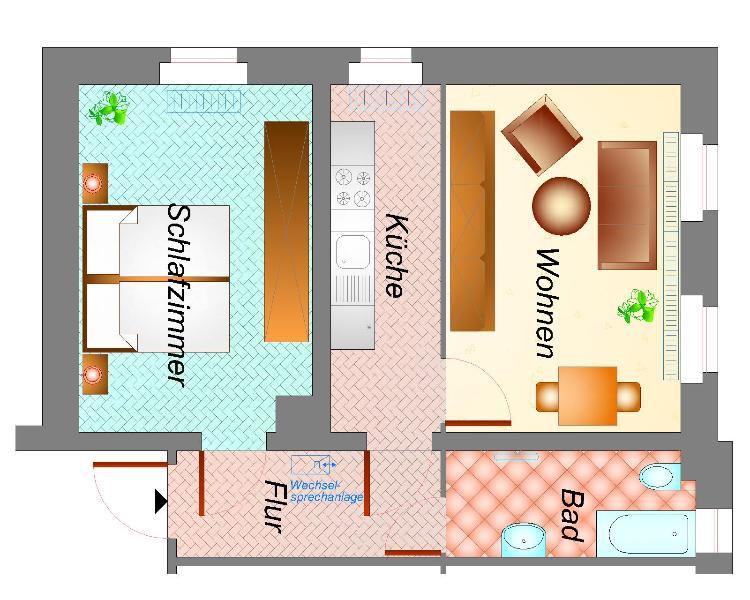 2 Raum App Garten u Stellplatz - Wohnung mieten - Bild 1