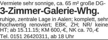 Wohnung in Aalen  - Aalen