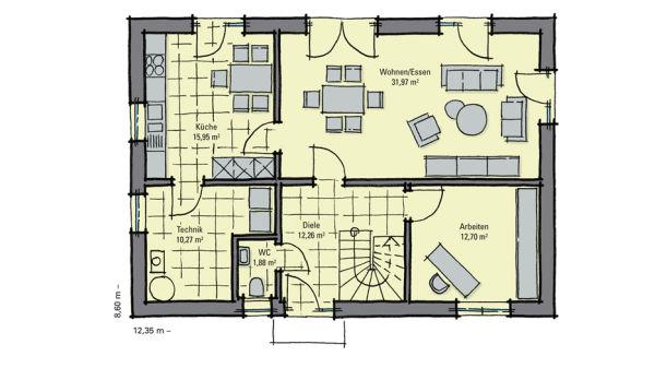 lindenallee elegantes einfamilienhaus mit edel gestalteter putzfassade. Black Bedroom Furniture Sets. Home Design Ideas