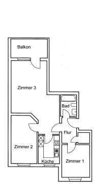 Etagenwohnung in Wismar  - Friedenshof