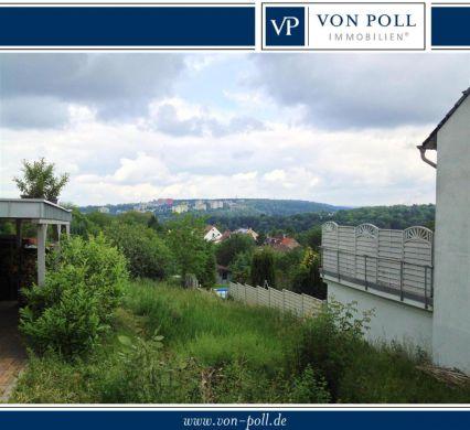 Bischmisheim: schmales Baugrundstück mit Panoramablick