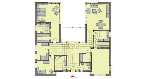 premium flachdach bungalow cote d 39 azur von gussek haus. Black Bedroom Furniture Sets. Home Design Ideas
