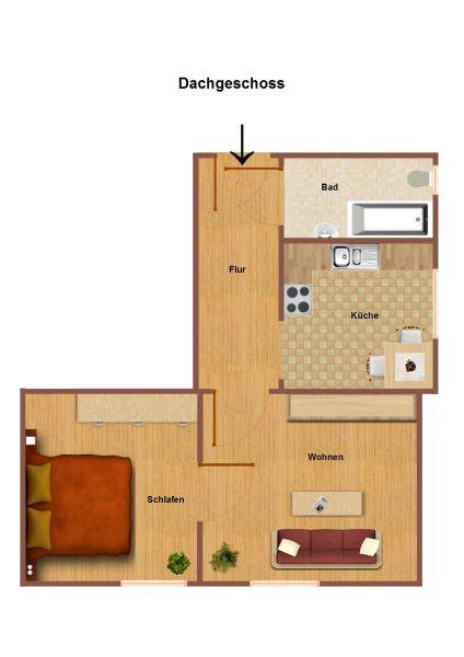 Ideal für Singles!!- Kleine 2-Raum-Wohnung sucht neuen Mieter! - Ideal...